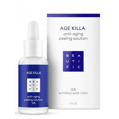 Beautific Age Killa Anti-Aging Peeling Solution Омолаживающий пилинг 12% с гликолевой кислотой и центеллой азиатской