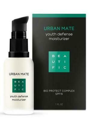 Beautific Urban Mate Youth Defense Moisturizer Дневной крем-флюид против первых признаков старения с комплексом anti-pollution и SPF15