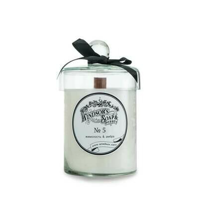 Windsor's Soap Honeysuckle & amber Свеча с эфирными маслами жимолости и стиракса (растительной амбры)