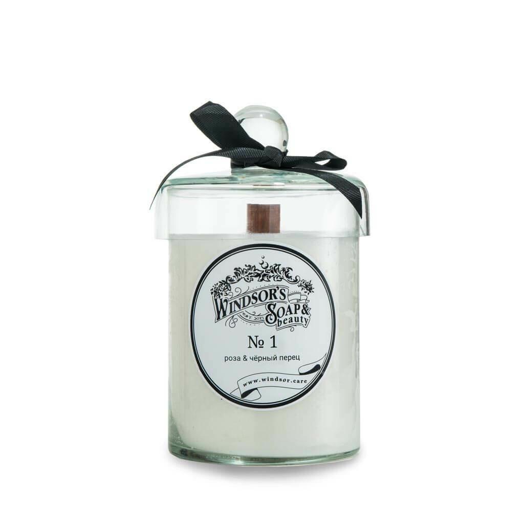 Windsor's Soap Rose & black pepper Свеча с эфирными маслами розы и чёрного перца