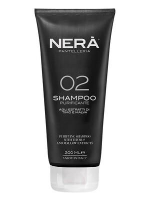 NERA PANTELLERIA 02 Purifying Shampoo with thymus and mallow extracts Очищающий шампунь для жирной кожи головы