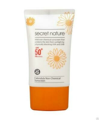 Secret Nature Calendula Non-Chemical Sunscreen SPF50+/PA++++ Солнцезащитный крем с календулой