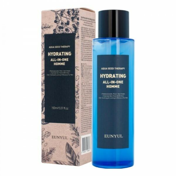 Eunyul Aqua Seed Therapy Hydrating Homme All-In-One Многофункциональное увлажняющее средство для ухода за кожей для мужчин
