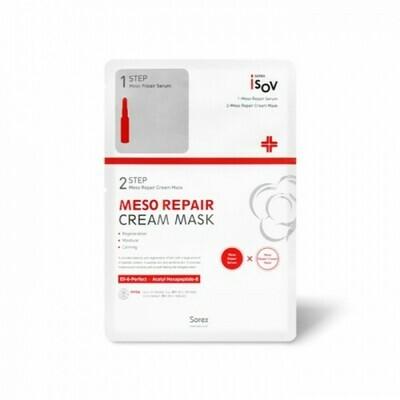 Isov Meso Repair Cream Mask Двухшаговая маска для раздраженной, дегидрированной и поврежденной кожи