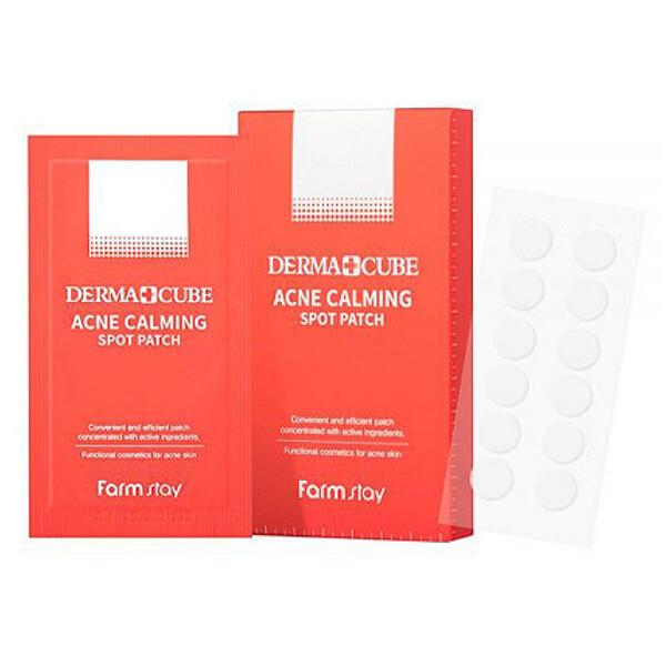 FarmStay DERMA CUBE Acne Calming Spot Patch Успокаивающие патчи локального применения для проблемной кожи