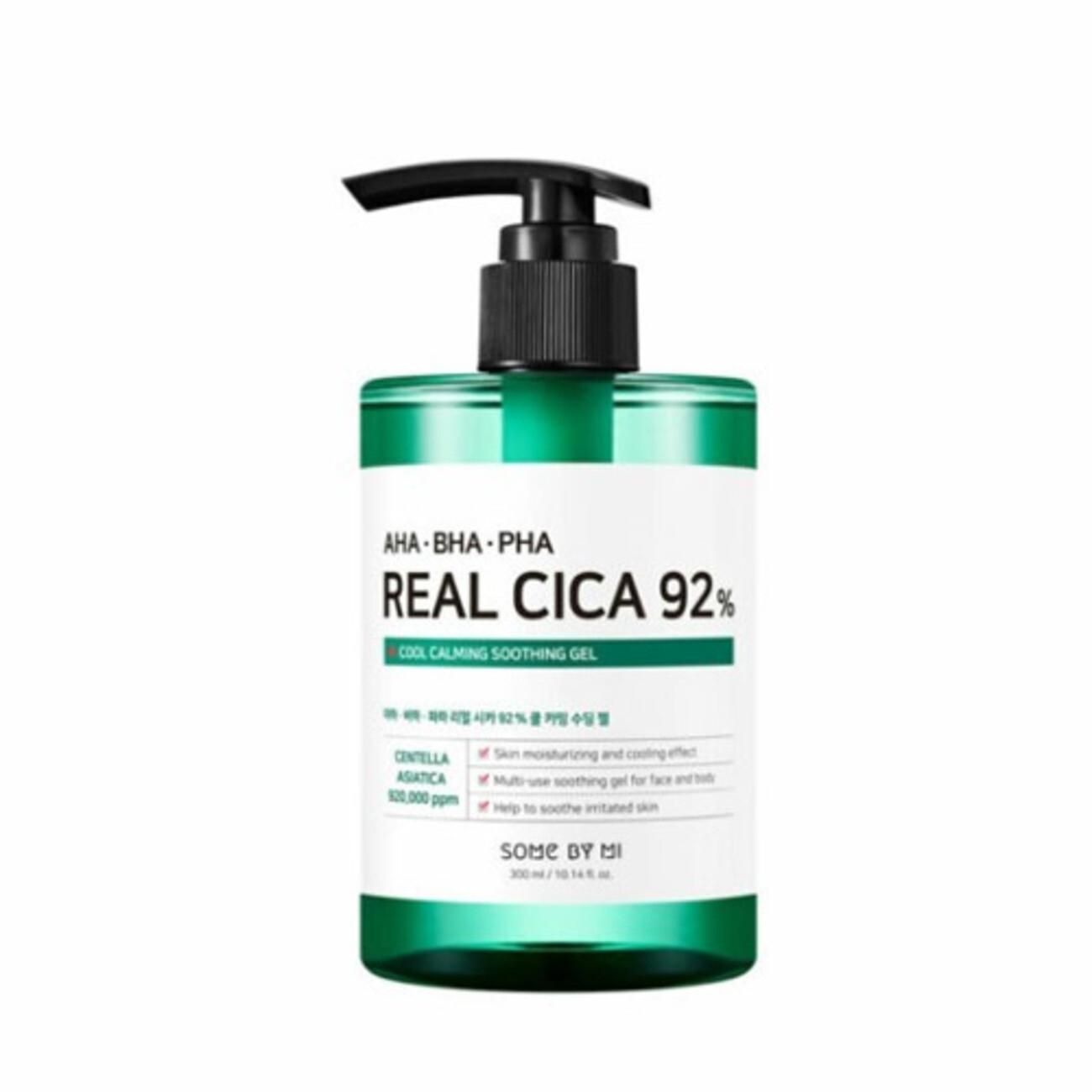 SOME BY MI AHA-BHA-PHA Real Cica 92% Cool Calming Soothing Gel Охлаждающий успокаивающий гель с кислотами для проблемной кожи