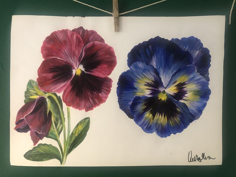 Original pansy artwork by Victoria Sanders