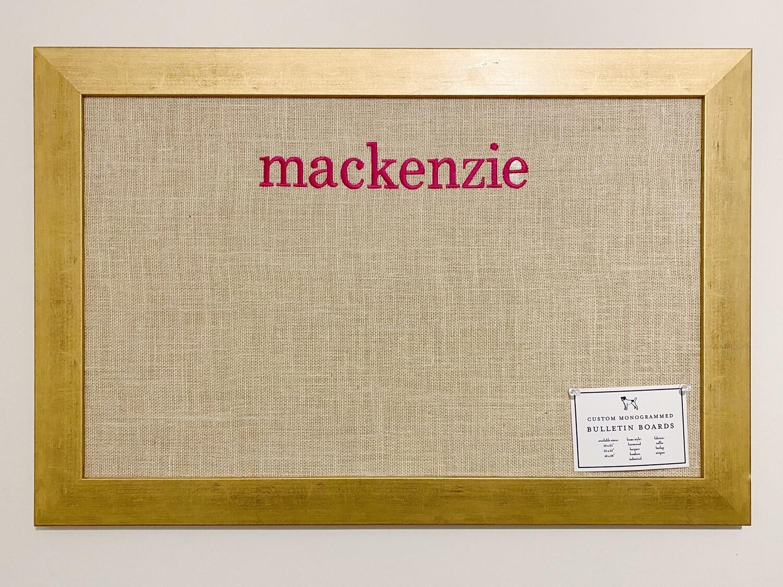 Bulletin Board - Gold Frame
