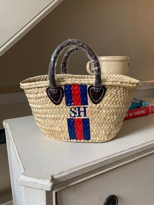 Straw tote, SMALL - personalized