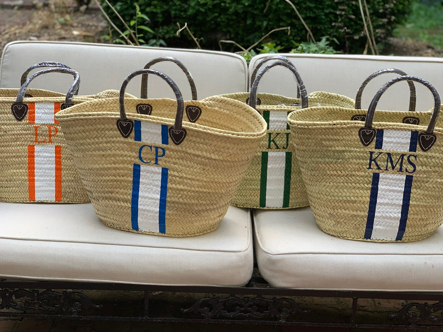Straw tote, XL - personalized