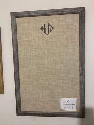 Bulletin Board - Grey Barnwood Frame