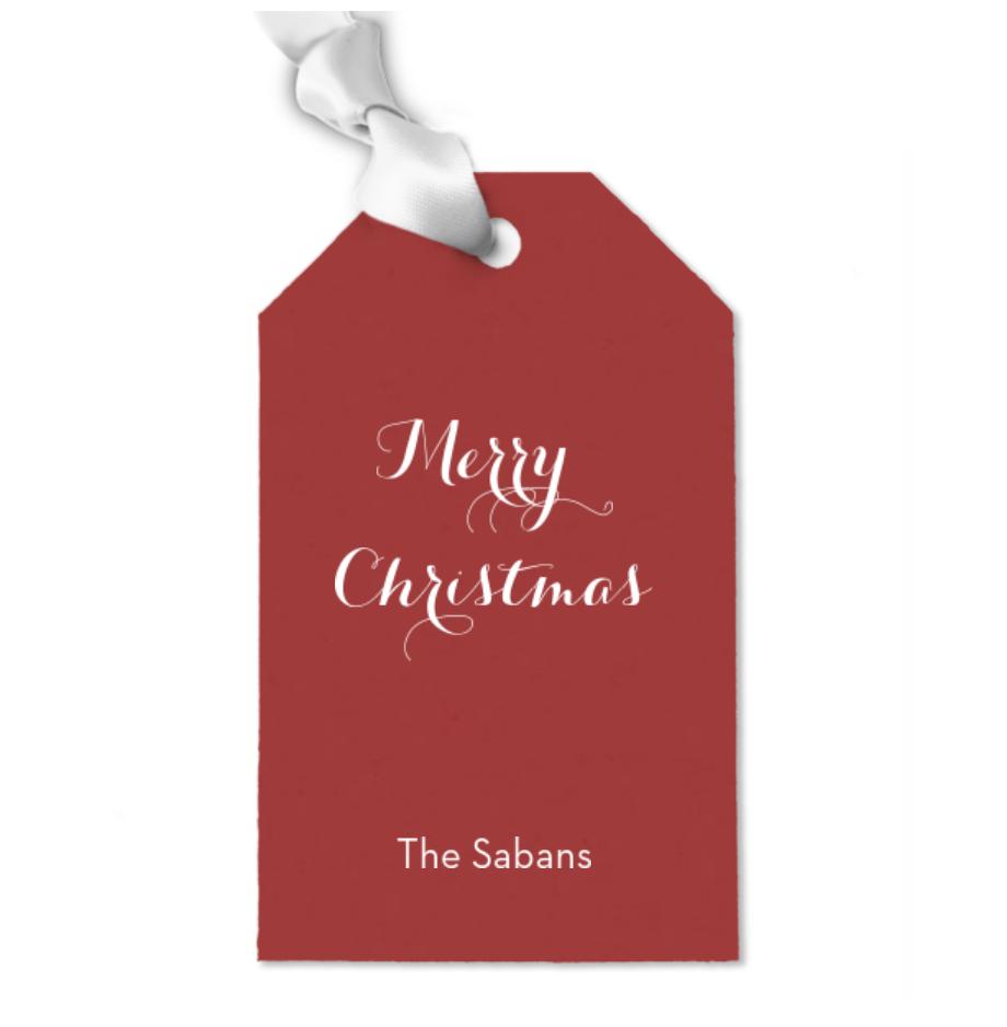 Custom Gift Tags - Merry Happy