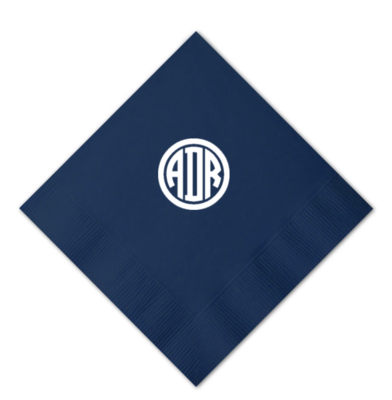 Custom Cocktail Napkins - Monogram