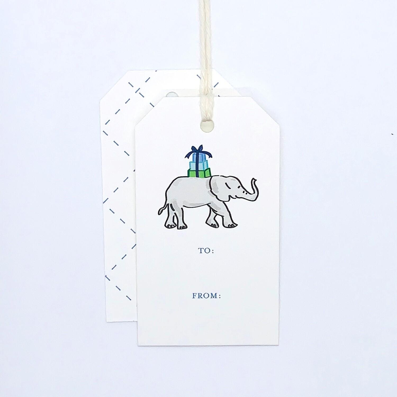 Gift Tag - Elephant