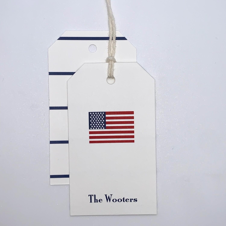 Gift Tag - American Flag
