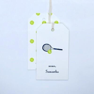 Gift Tag - Tennis