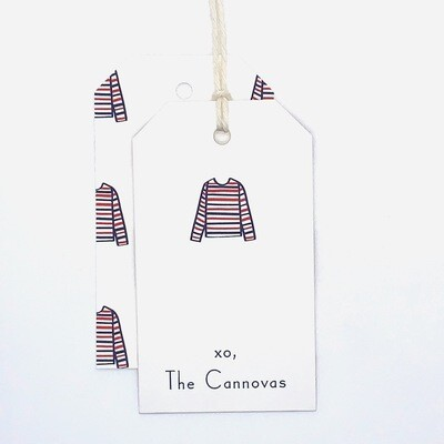 Gift Tag - Striped Shirt