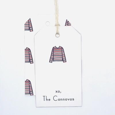 Gift Tag - Striped Shirt