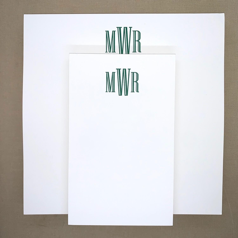 Custom Notepad - 3 Letter Monogram