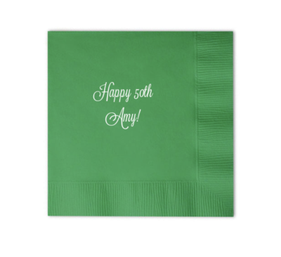 Custom Cocktail Napkins - Name or Phrase