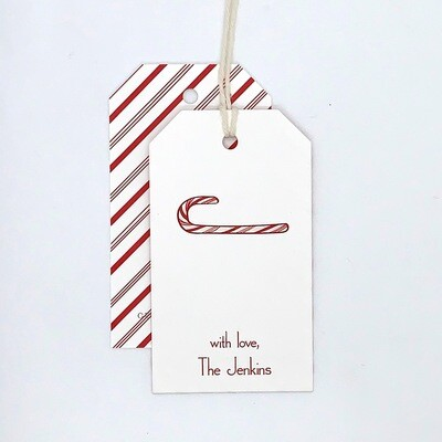 Gift Tag - Custom - Candy Cane