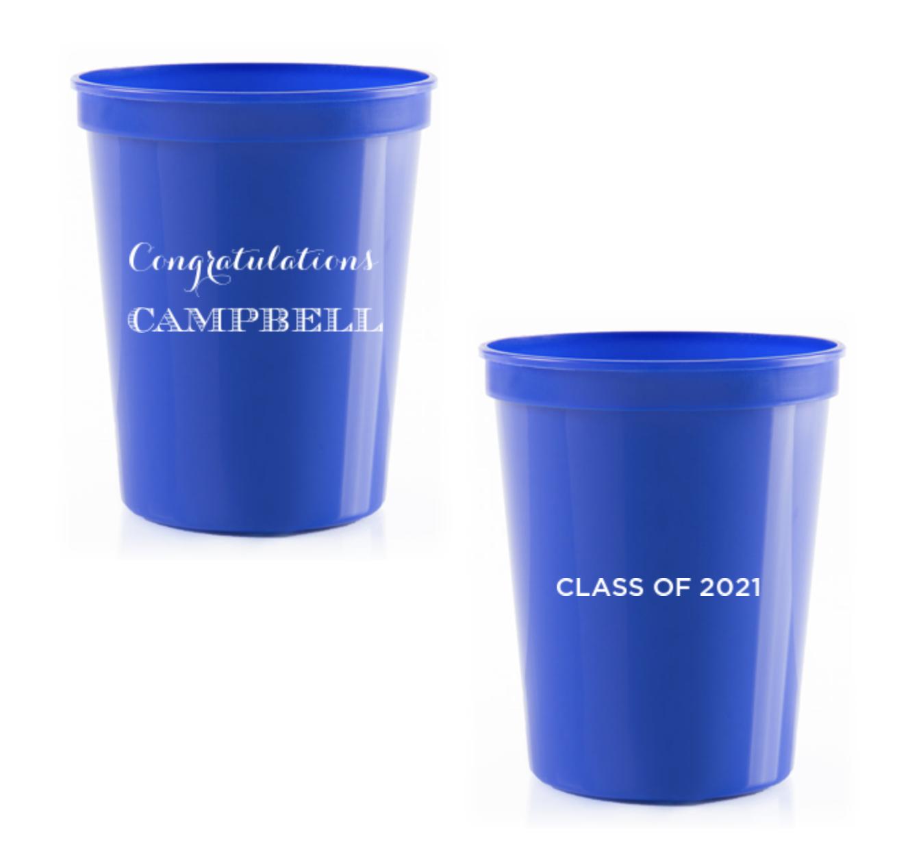 Custom Stadium Cup - Graduation