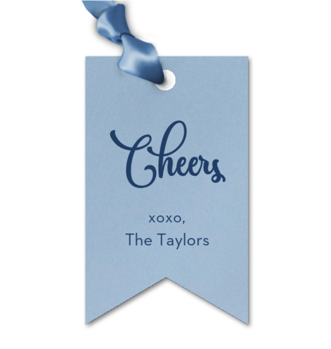 Gift Tag, Cheers Ribbon