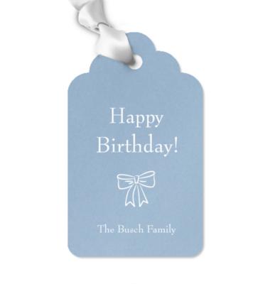 Gift Tag, Birthday Bow