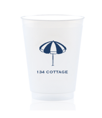 Custom Shatterproof Cups - Beach Umbrella