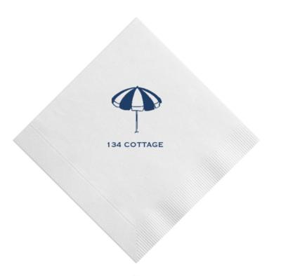Custom Cocktail Napkins - Beach Umbrella