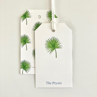 Gift Tag - Fan Palm, Green