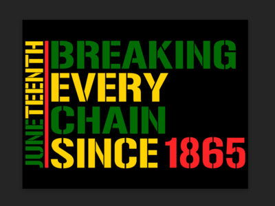 Juneteenth- Breaking Chains 1865
