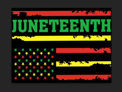Juneteenth Flag- Yard Sign