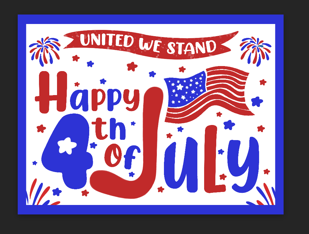 Happy 4th of July- United We Stand