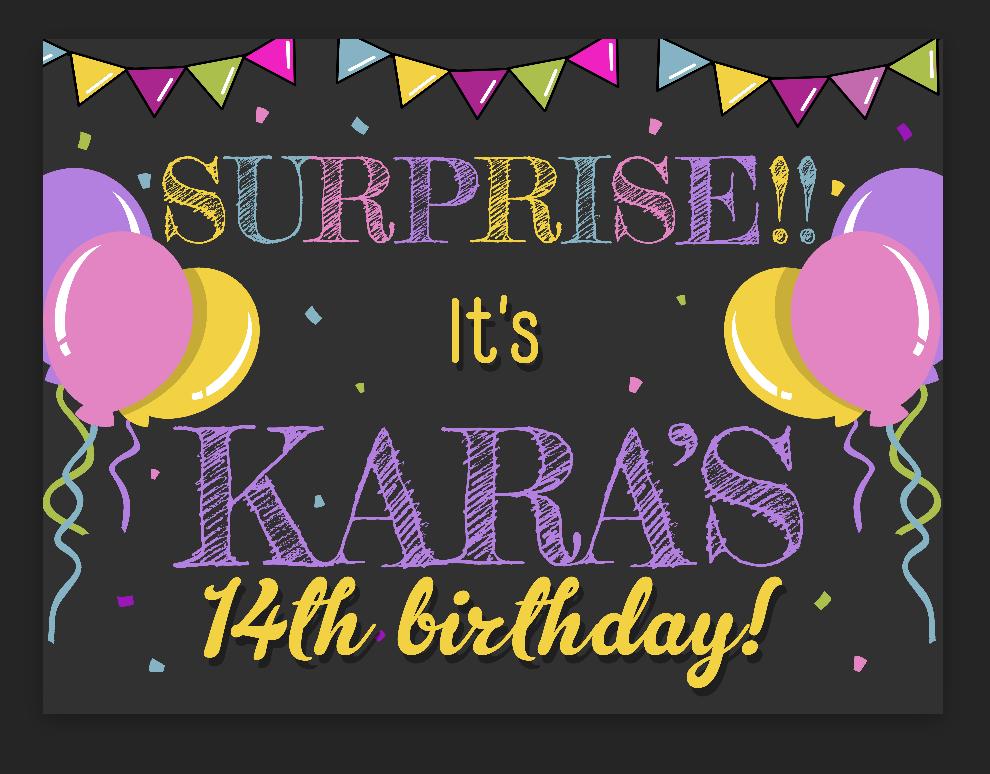 Surprise Bday