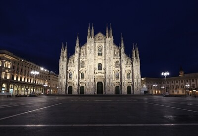 Andrea Cherchi, il Duomo Blu notte