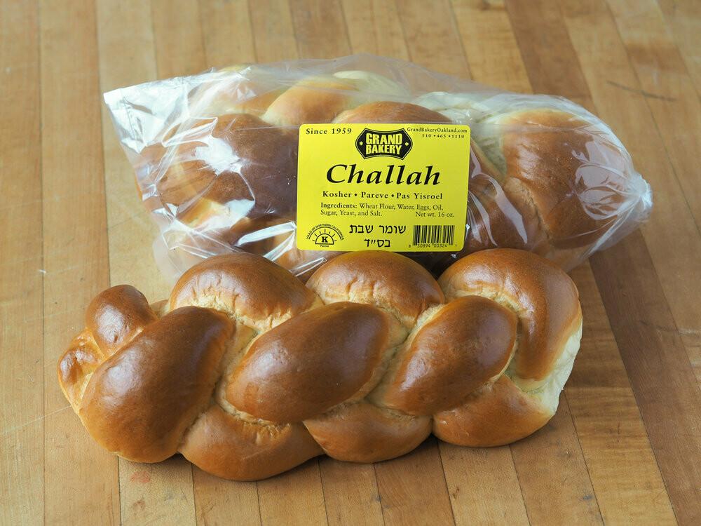 Grand Bakery Bread Challah Braided 1 lb