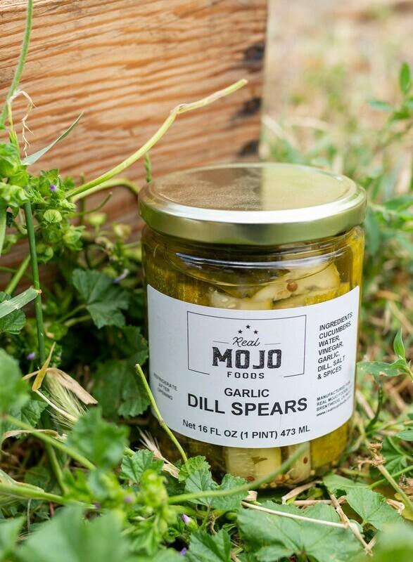 Mojo Garlic Dill Pickles Spears