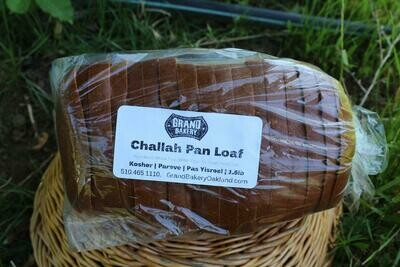 Grand Bakery Bread Challah Loaf Sliced 1.5lb