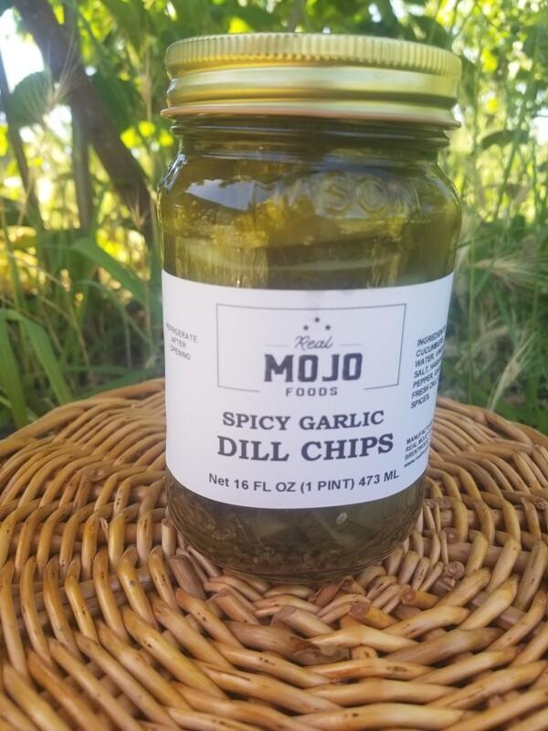 Mojo Spicy Garlic Dill chips