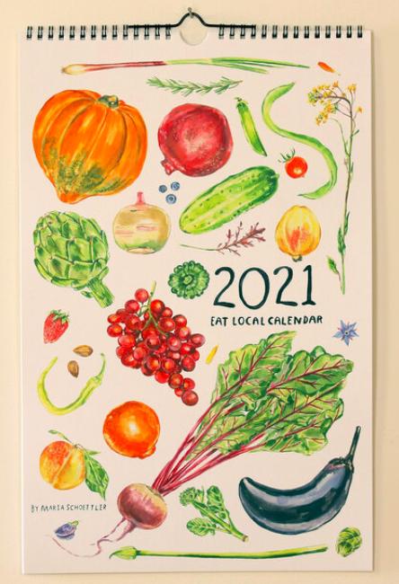 Calendar 2021 Maria Schoettler Local Artist Veggies