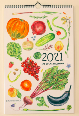 Calendar 2021 Maria Schoettler Local Artist Veggies