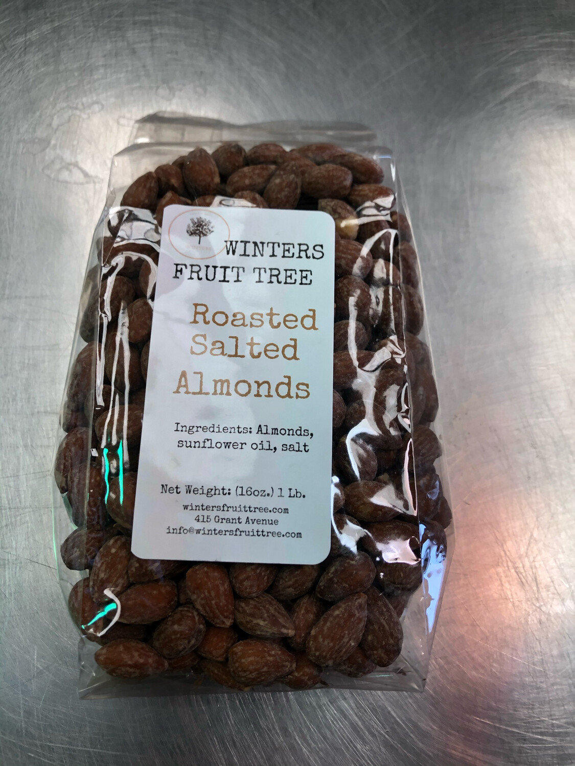 Nuts Almonds Roasted Salted/1 lb bag