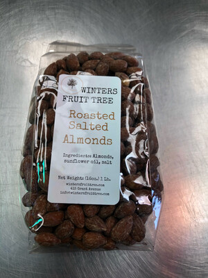 Nuts Almonds Roasted Salted 1 lb bag