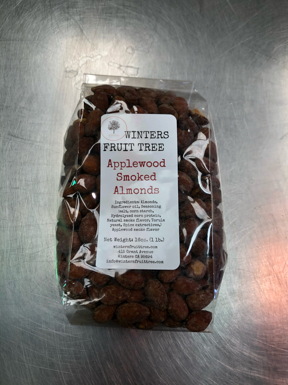 Nuts Almonds Applewood Smoked/ l lb bag