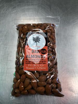 Nuts Almonds Raw 1 lb bag