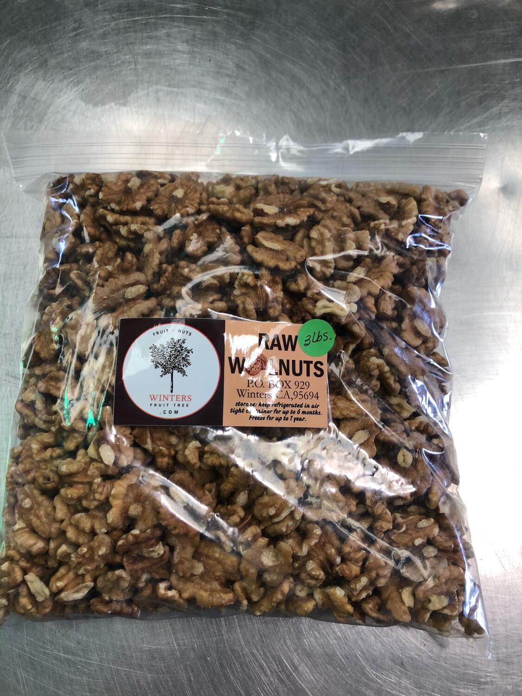 Nuts Walnuts Raw  3 lb bag