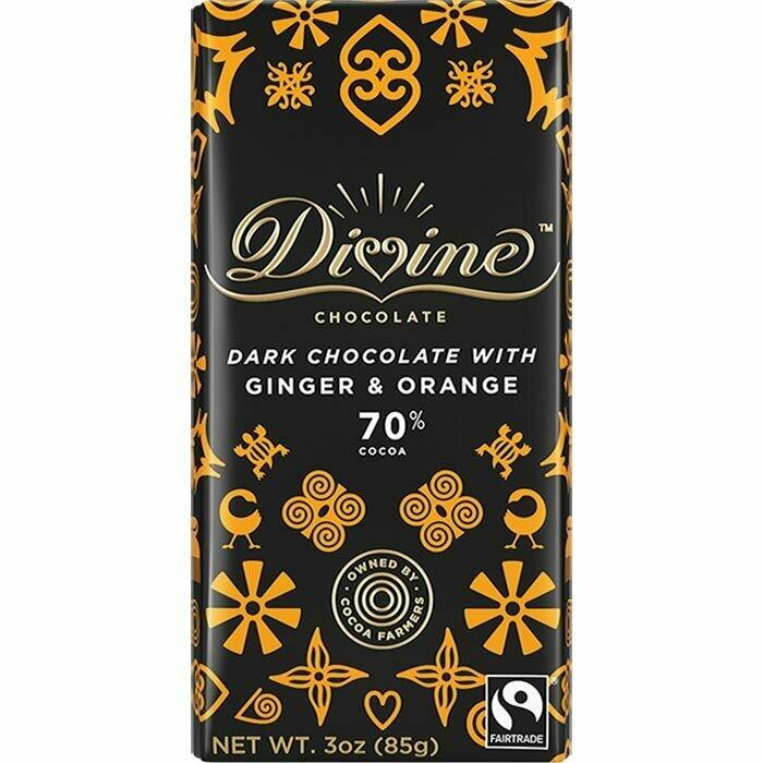 70% Dark Chocolate with Ginger & Orange