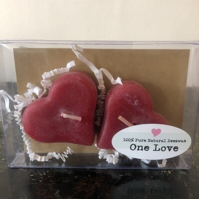 Heart candles in box 3120