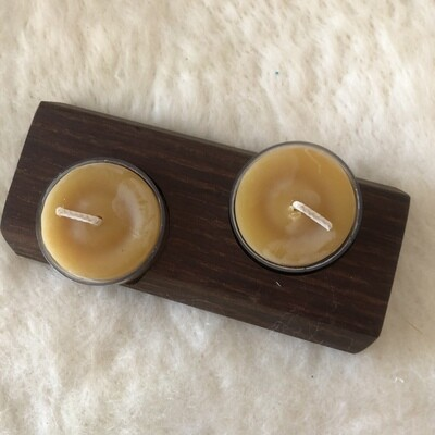 Tealight holder and 2 tealights 3117